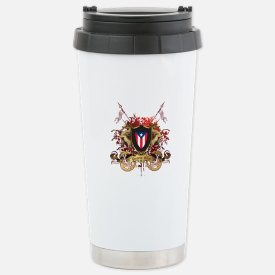 Puerto rican pride Stainless Steel Travel Mug