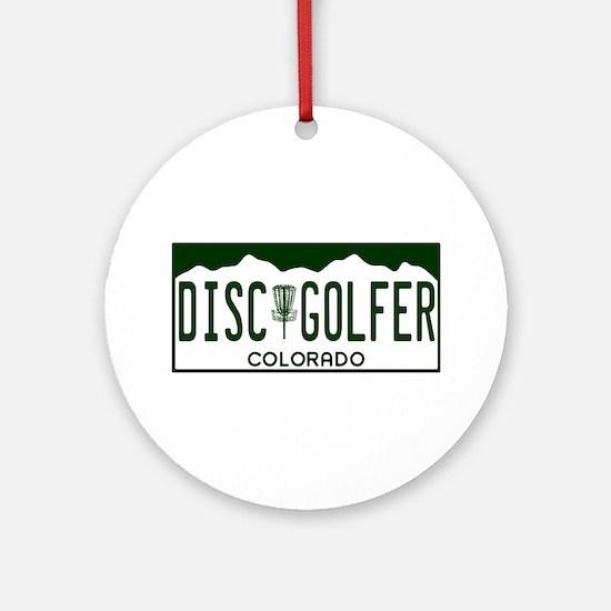 CO Disc Golfer Ornament (Round)