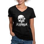 Madhouse Mayhem Women's V-Neck Dark T-Shirt