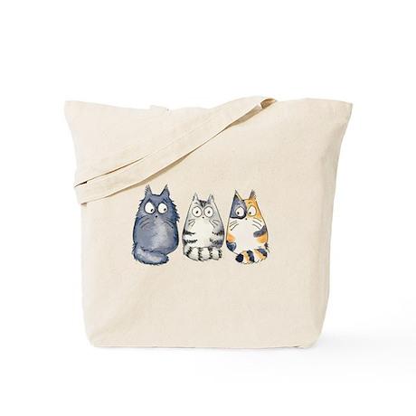Three 3 Cats Tote Bag