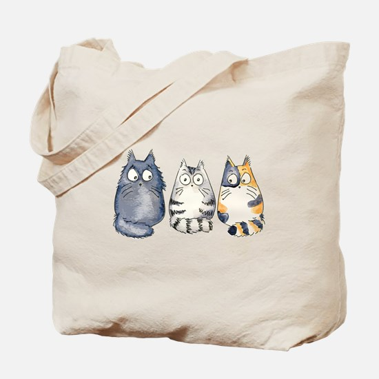 Three 3 Cats Tote Bag