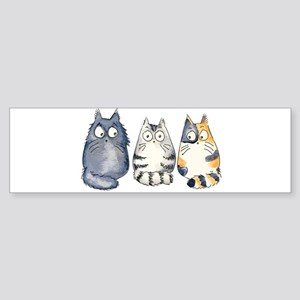 Three 3 Cats Sticker (Bumper)