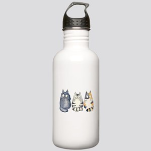 Three 3 Cats Stainless Water Bottle 1.0L
