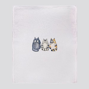 Three 3 Cats Throw Blanket