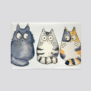 Three 3 Cats Rectangle Magnet
