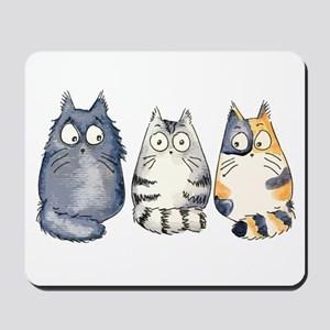 Three 3 Cats Mousepad