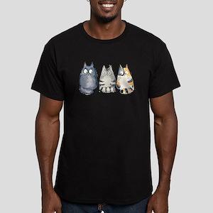 Three 3 Cats Men's Fitted T-Shirt (dark)