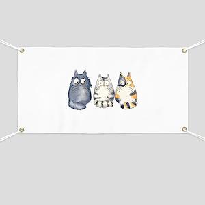 Three 3 Cats Banner