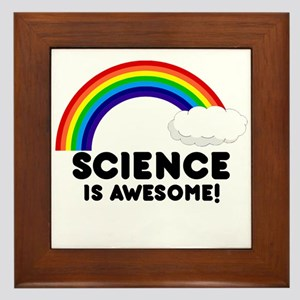 Science Is Awesome Framed Tile