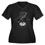 Reaper Crew Women's Plus Size V-Neck Dark T-Shirt