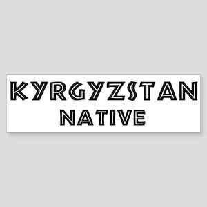 Kyrgyzstan Native Bumper Sticker