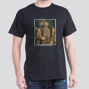 Holbein Henry VIII (Front) Black T-Shirt