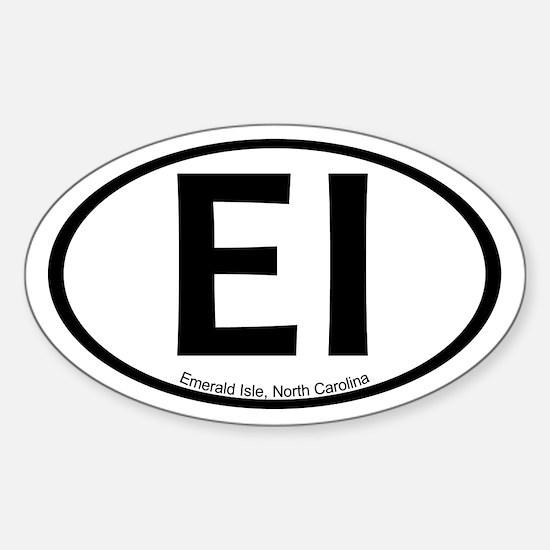 Emerald Isle, NC Oval Stickers