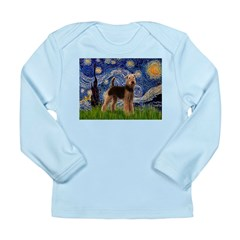 Starry Night - Airedale #6 Long Sleeve Infant T-Sh