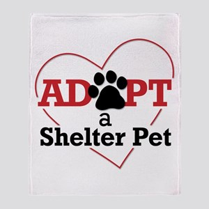 Adopt a Shelter Pet Throw Blanket