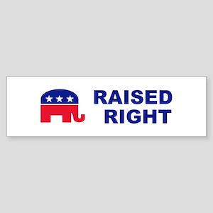 Raised Right GOP political bumper Sticker (Bumper)