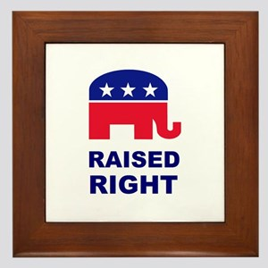 Raised Right GOP Framed Tile