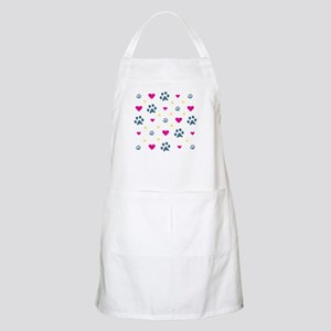 Paw Prints and Hearts Apron