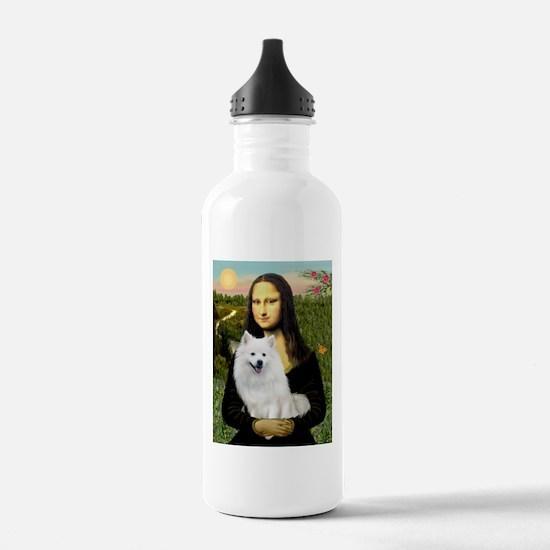 MonaLisa-AmEskimoDog Sports Water Bottle