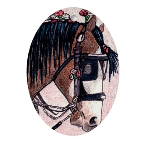 SHIRE HORSE 2 Ornament (Oval)