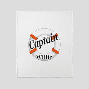 Captain Willie Throw Blanket