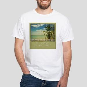 paradise White T-Shirt