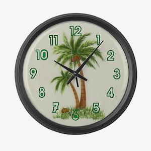 Twin palms Large Wall Clock