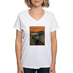 The Scream Women's V-Neck T-Shirt