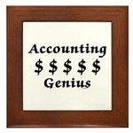 Accounting Genius Framed Tile