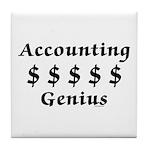 Accounting Genius Tile Coaster