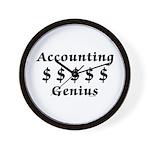 Accounting Genius Wall Clock