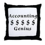 Accounting Genius Throw Pillow