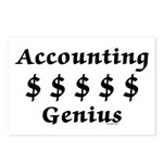 Accounting Genius Postcards (Package of 8)