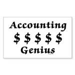 Accounting Genius Sticker (Rectangle)