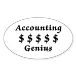 Accounting Genius Sticker (Oval 10 pk)