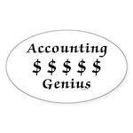 Accounting Genius Sticker (Oval)
