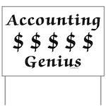 Accounting Genius Yard Sign