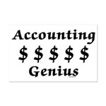 Accounting Genius Mini Poster Print