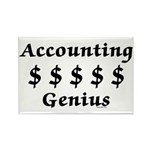 Accounting Genius Rectangle Magnet (100 pack)