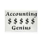 Accounting Genius Rectangle Magnet