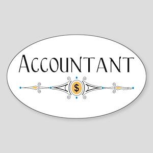 Accountant Decorative Line Sticker (Oval)