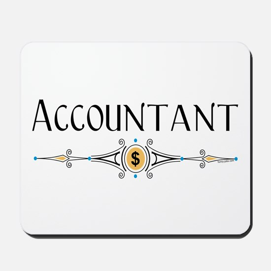 Accountant Decorative Line Mousepad
