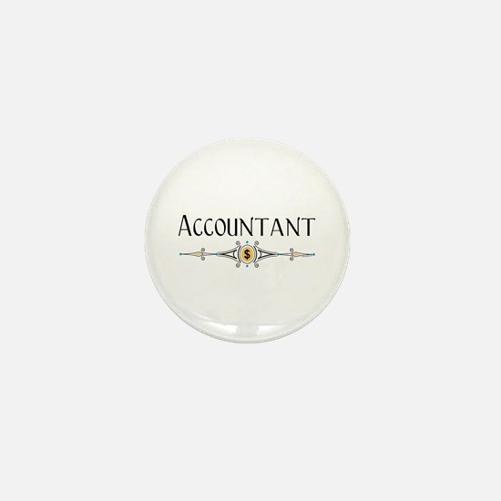 Accountant Decorative Line Mini Button