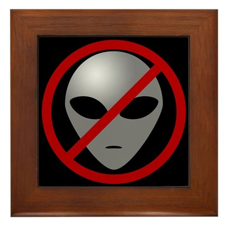 Alien Busters Framed Tile