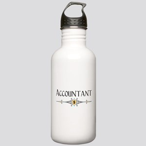 Accountant Decorative Line Stainless Water Bottle