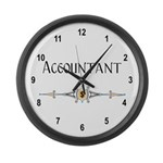 Accountant Decorative Line Large Wall Clock