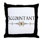 Accountant Decorative Line Throw Pillow
