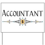 Accountant Decorative Line Yard Sign