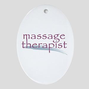 Massage Therapist Ornament (Oval)