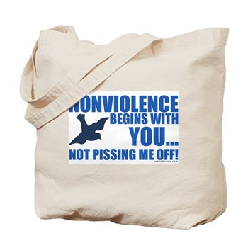 Nonviolence Begins with You... Tote Bag